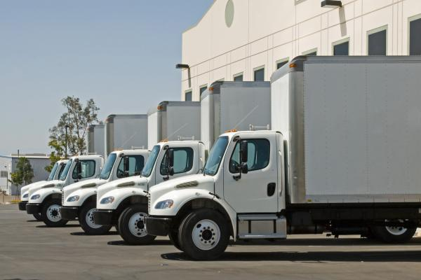 Box trucks lined up