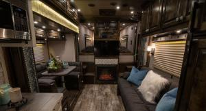 Living quarters in a horse trailer