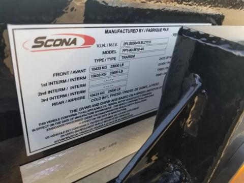 2020 Scona 80 Ton 4A Low Profile Float - Image 8 of                                                35