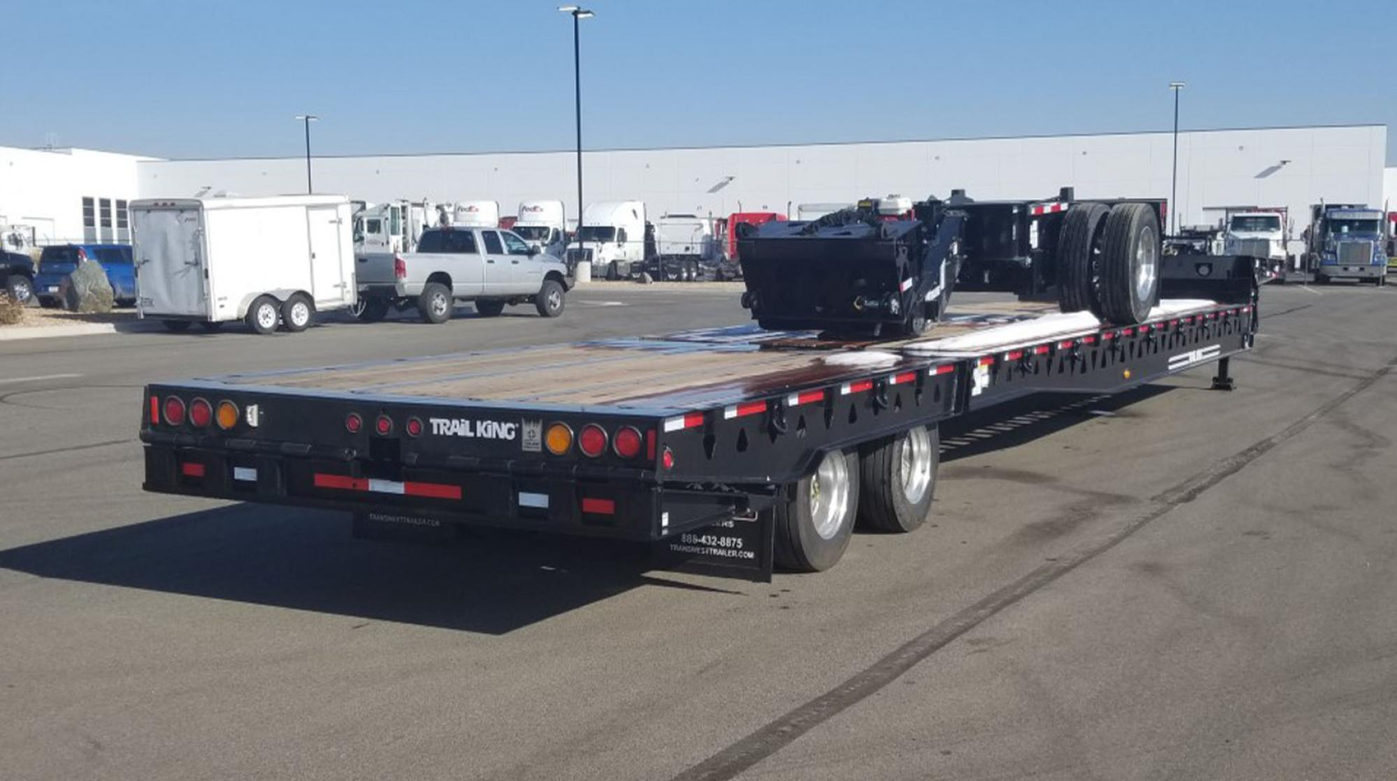 Sliding Axle and Hydraulic Tail Trailer