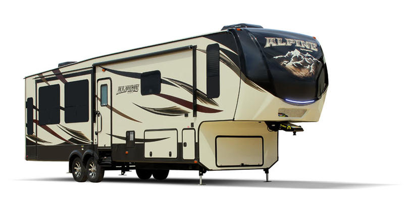 alpine-luxury-fifth-wheel-stock-image